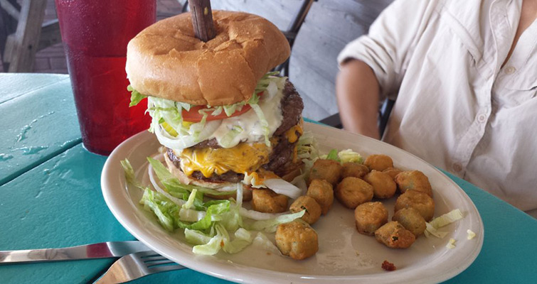 Best Burgers and Seafood on Galveston Bay!